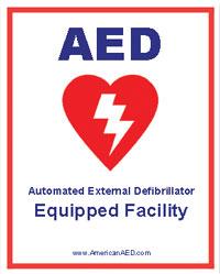 AED Sticker