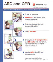ZCard AED + CPR Reference Card