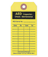 AED Package - Maintenance Tag