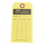 AED Inspection / Maintennance Tag