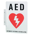 Double Sided AED Sign