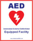 AED Equipped Decal / Sticker