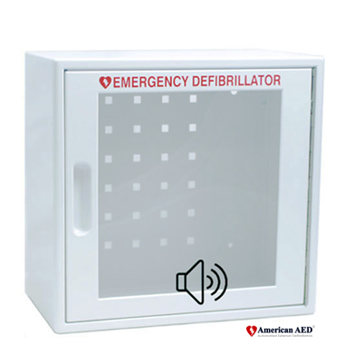 Wall AED Cabinet With Audible Alarm   American AED   #1 Trusted Source Of  Automated External Defibrillators
