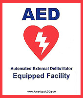 AED Package - AED Window / Wall Decal Sticker
