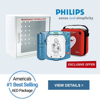 Complete AED Defibrillator Package - Philips HeartStart OnSite - M5066A-WC280