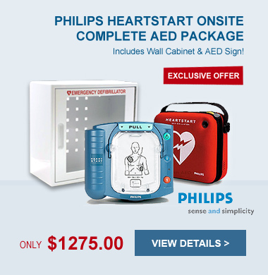 Complete AED Package - Philips HeartStart OnSite - M5066A-WC280