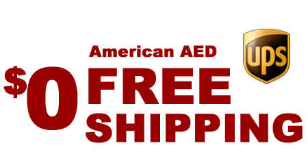 Free Shipping of all AEDs and Accessories for order over $50.00