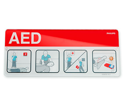 Philips Awareness AED Sign - Part# 989803170901