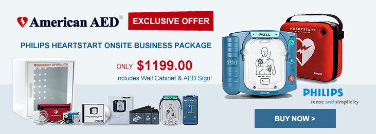 Philips HeartStart OnSite Business Value Package AED Defibrillator