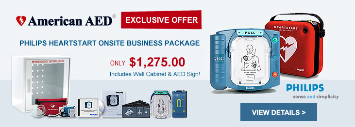 Philips HeartStart OnSite AED Defibrillator Business Package