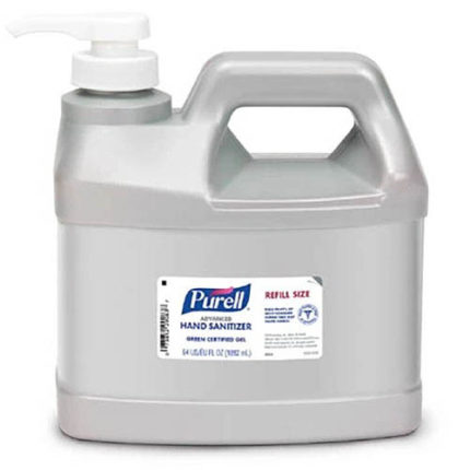 Purell 64oz Advanced Hand Sanitizer Green Certified Gel With Pump
