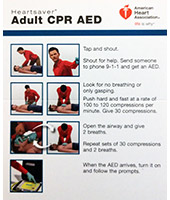AED Package - CPR AED Quick Reference Card