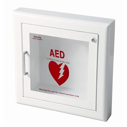 Semi-Recessed Wall AED Cabinet With Alarm