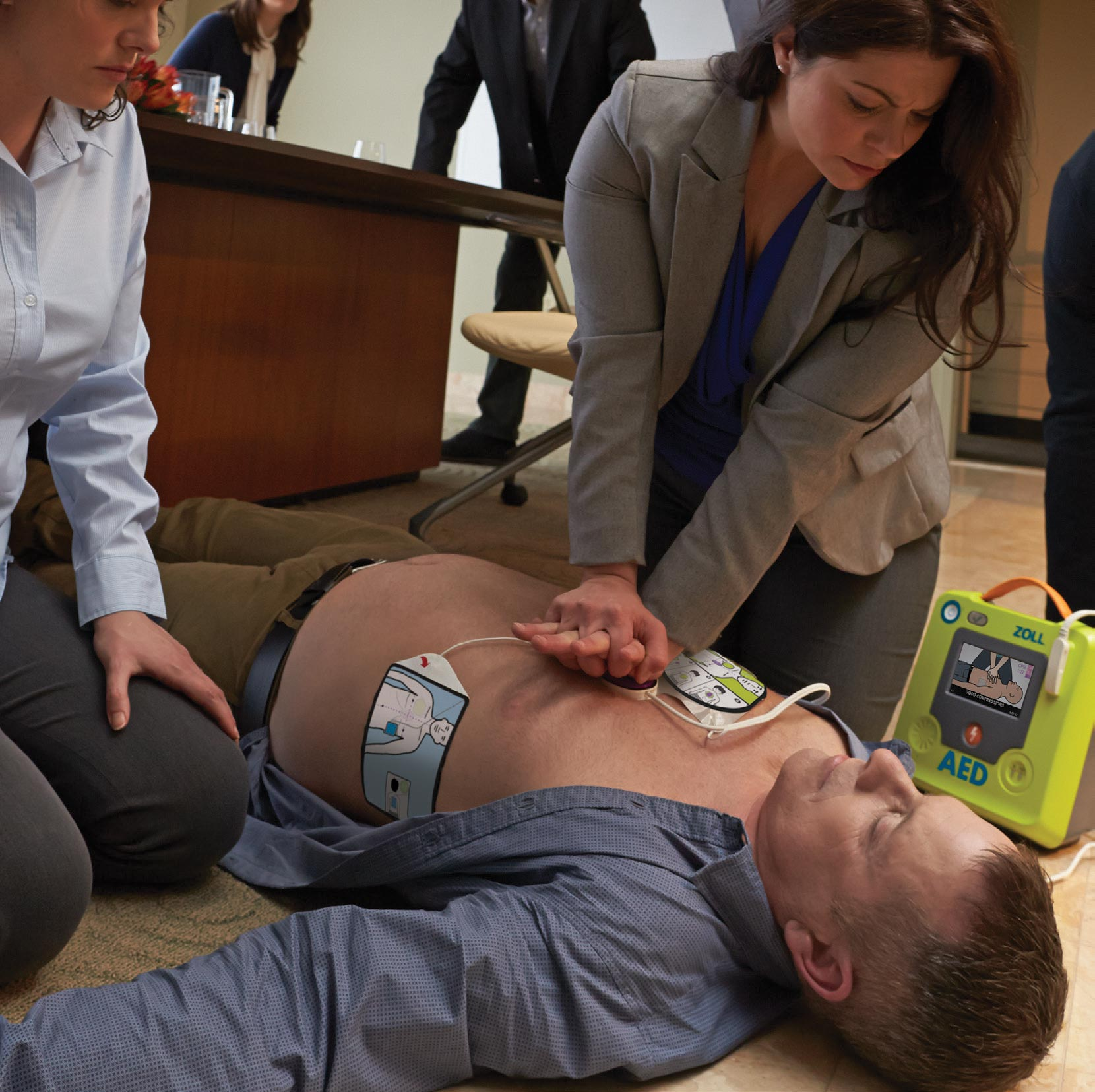 Woman Performing CPR with ZOLL AED 3