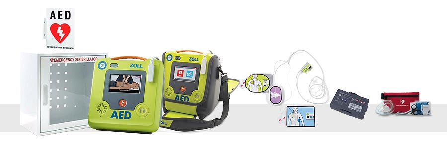 ZOLL AED 3 Complete Package With Cabinet & Sign